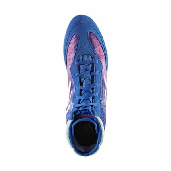 ADIDAS Box Hog Plus Boxing Boots Blue//Pink